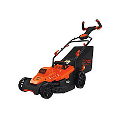 10 amp 15-inch Electric Lawn Mower with Pivot Control Handle