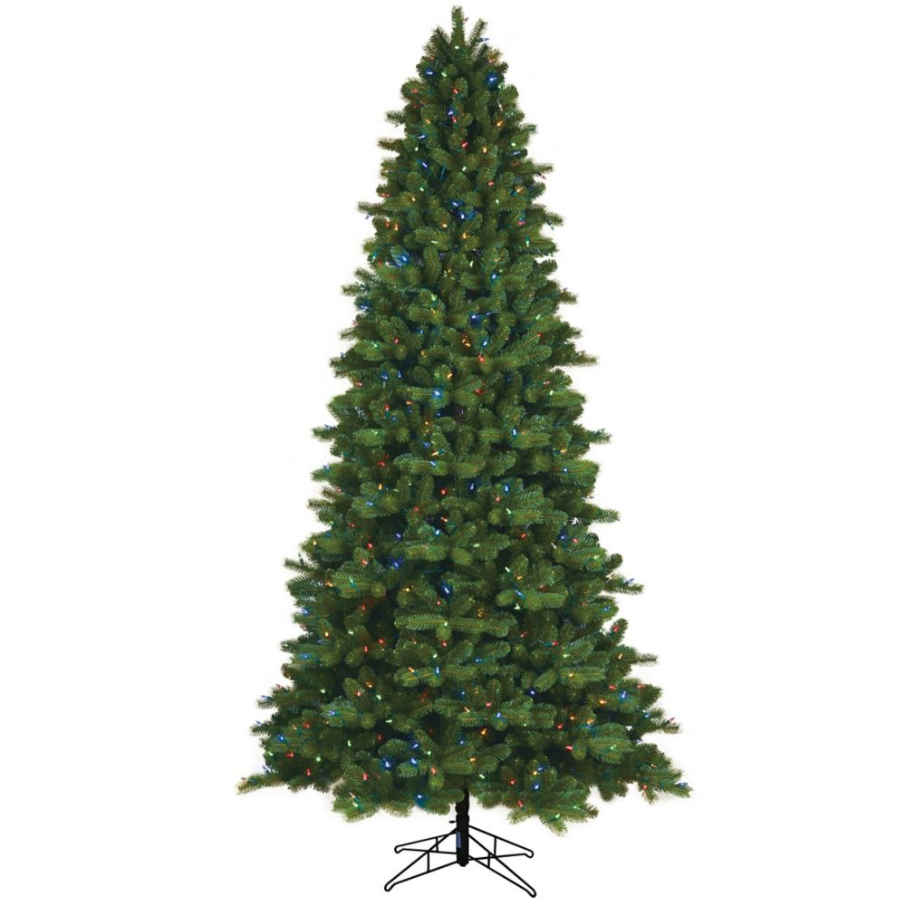 GE 9 ft. 700 Dual Colour LED-Lit Colarado Spruce Christmas Tree