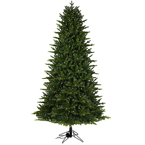 7.5 ft. 500-Light LED Aspen Fir in Red, Green, Blue with Speaker