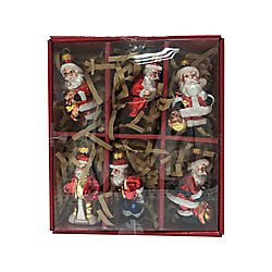 Home Accents Holiday Santa Christmas Ornament (6-Pack)