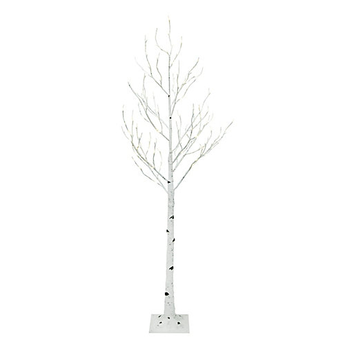 72-inch Pre-Lit 128-LED Birch Tree in Warm White