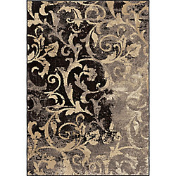 Orian Rugs Distressed Scroll Taupe 5 ft. 3-inch x 7 ft. 6-inch Indoor Area Rug