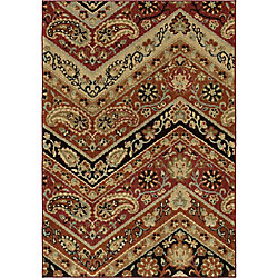 Orian Rugs Paisley Point Rouge 5 ft. 3-inch x 7 ft. 6-inch Indoor Area Rug