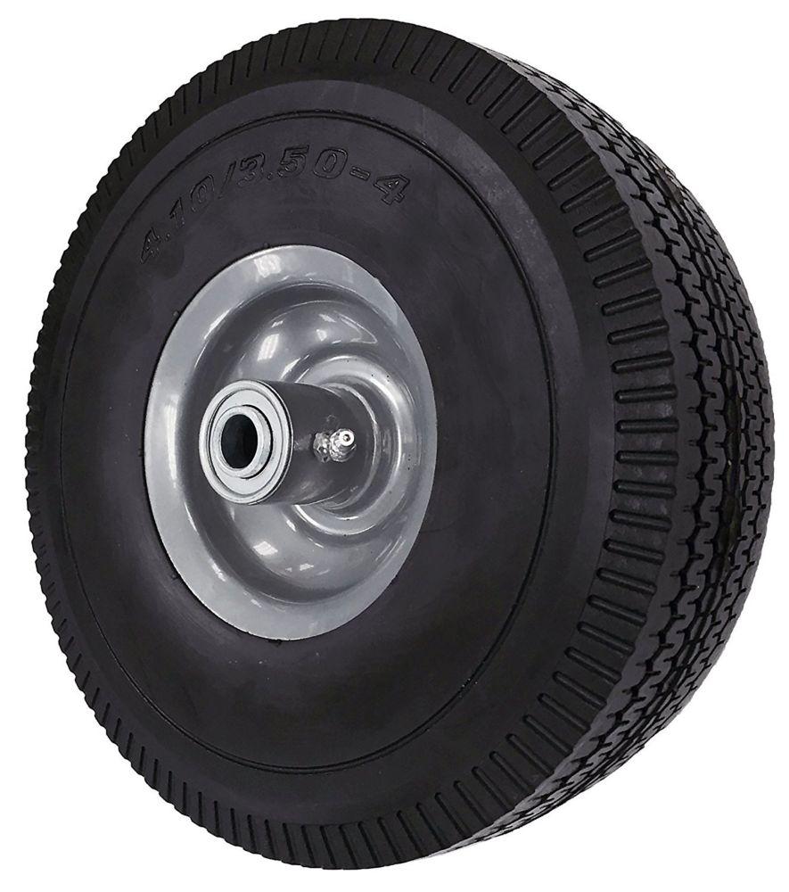 Everbilt 10-inch Flat Free Wheel, Sawtooth Tread, 5/8 inch Bore, Offset Axle