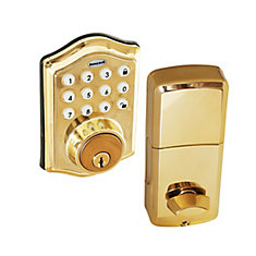 Polished Brass Keyless Entry Digital Deadbolt