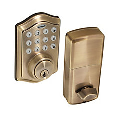 Antique Brass Keyless Entry Digital Deadbolt