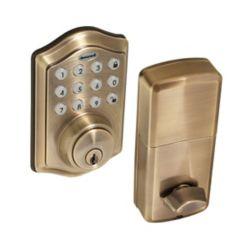 Honeywell Antique Brass Keyless Entry Digital Deadbolt