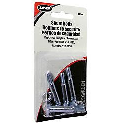 Laser Shear Pins,Pk/4, Replaces Mtd # 710-0380