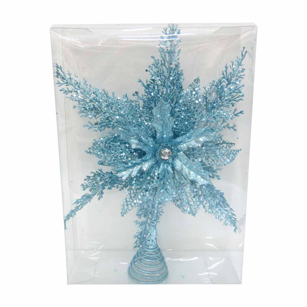 Home Accents Holiday Blue Star Christmas Tree Topper