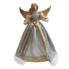 Silver and Gold Angel Christmas Tree Topper