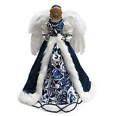 Blue Standing Angel Christmas Tree Topper