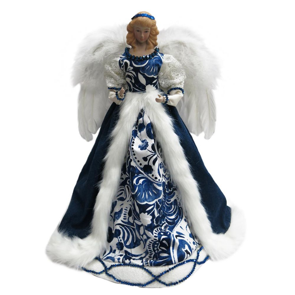 Home Accents Holiday Blue Standing Angel Christmas Tree Topper