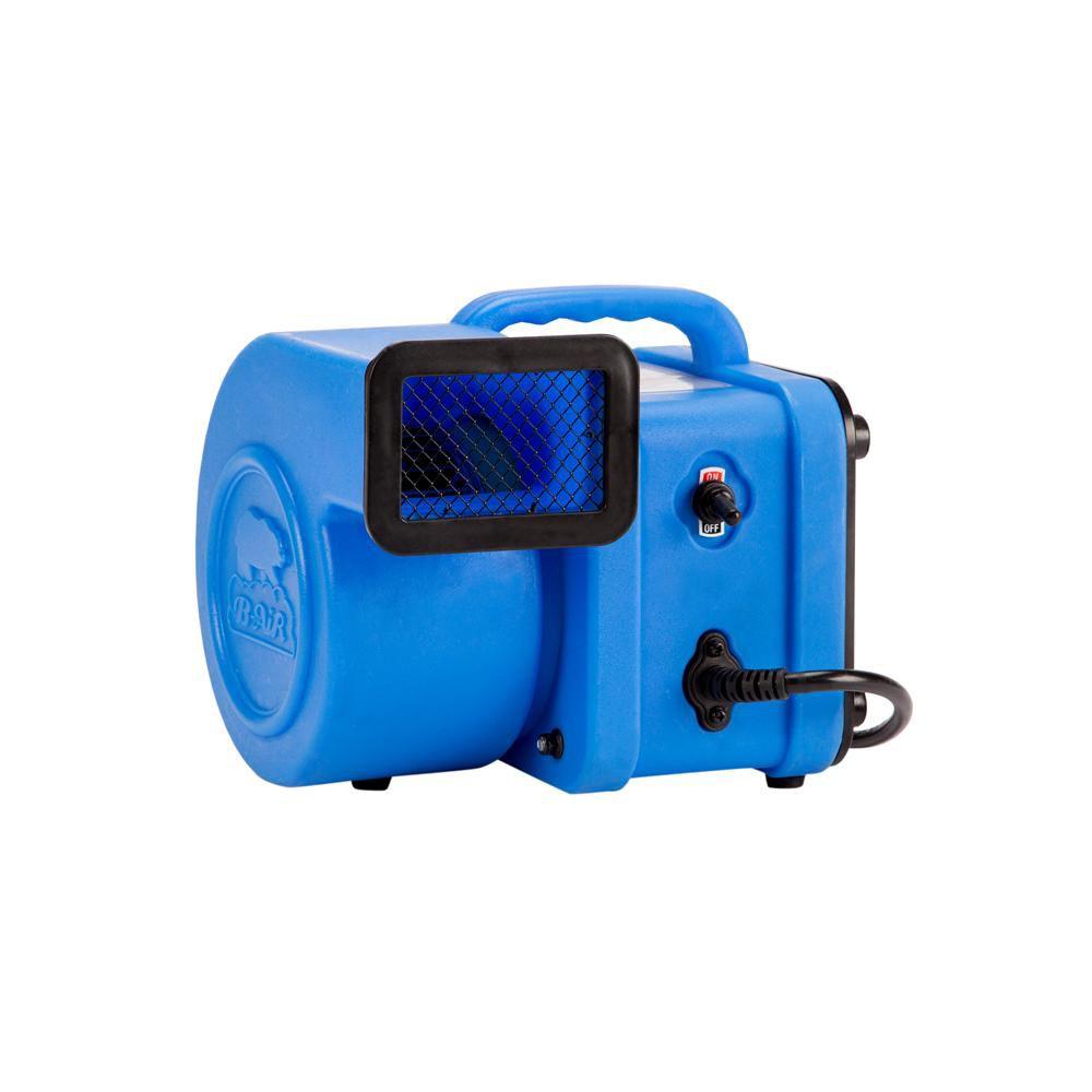 B-Air 1/4 HP 375 CFM Mini Air Mover Blue