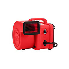 1/4 HP 375 CFM Mini Air Mover Red