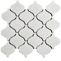 Merola Tile Metro Lantern Crackle White 9-3/4-inch x 10-1/4-inch x 6 mm Ceramic Mosaic Tile (7.11 sq.ft. / case)