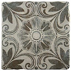 Costa Cendra Decor Dahlia 7-3/4-inch x 7-3/4-inch Ceramic Floor and Wall Tile (11.5 sq.ft. / case)