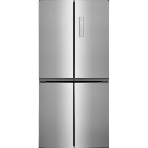 33-inch W 17.4 cu. ft. 4 Door Refrigerator with Adjustable Freezer Storage in Stainless Steel