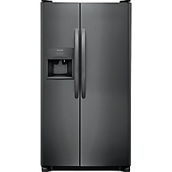 33-inch W 22.1 cu. ft. Side by Side Refrigerator in Black Stainless Steel
