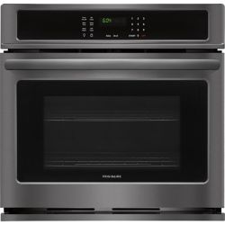 Frigidaire 30-inch Single Electric Wall Oven Self-Cleaning in Black Stainless Steel
