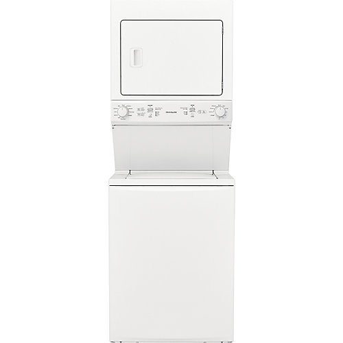 Stacked Unitized 4.5 cu. ft. Washer and 5.5 cu. ft. Dryer Laundry Centre in White