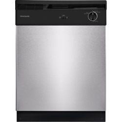 Frigidaire Lave-vaisselle à cuve haute encastrée à commande frontale de 24 po en acier inoxydable