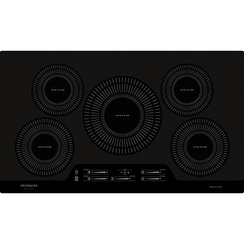36-inch Smooth Induction Cooktop with 5 Elements in Black