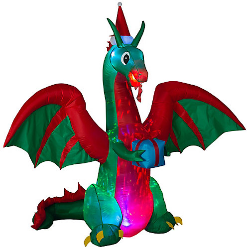 8 ft. Airblown Inflatable Dragon Outdoor Decoration