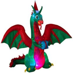 Home Accents Holiday 8 ft. Airblown Inflatable Dragon Outdoor Decoration