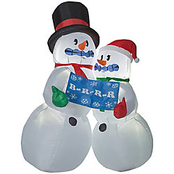 Home Accents Holiday 6 ft. Airblown Inflatable Shivering Snow Couple