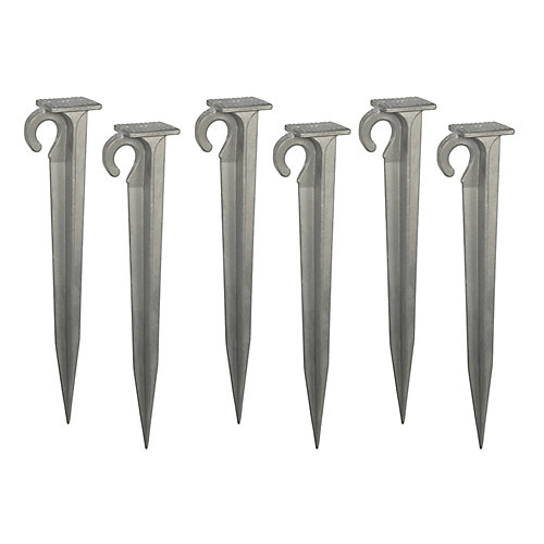 Outdoor Decoration Metal Anchor Stake Kit (6-Count)