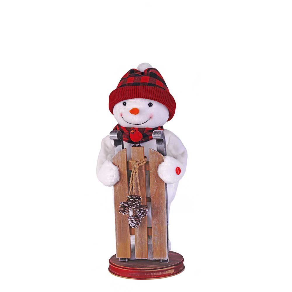 Home Accents Holiday 21-inch Snowman Figurine with Whistle Bird