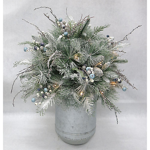 Snowtop Dazzle 3 ft. Warm White-Lit Artificial Potted Christmas Tree
