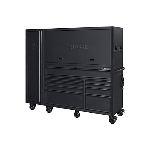80-inch 10-Drawer Tool Chest and Cabinet Combo, Matte Black (3-Piece)