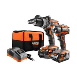 RIDGID GEN5X 18V Lithium-Ion Brushless Cordless Hammer Drill and Impact Driver Kit
