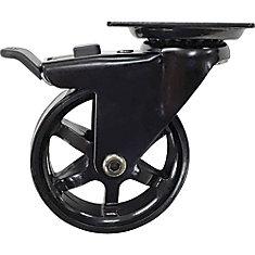 Designer Premium Series 3-In Mag Designer Casters, Black Bling w/ Total Lock Brake