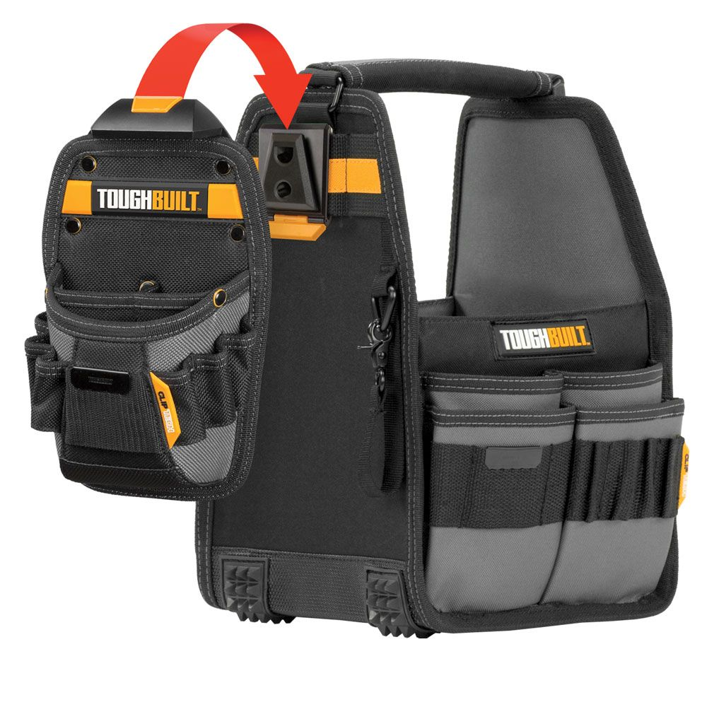 TOUGHBUILT 8 inch Tote + Pouch with ClipTech