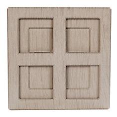 Wireless or Wired Door Bell in Light Grey Wood