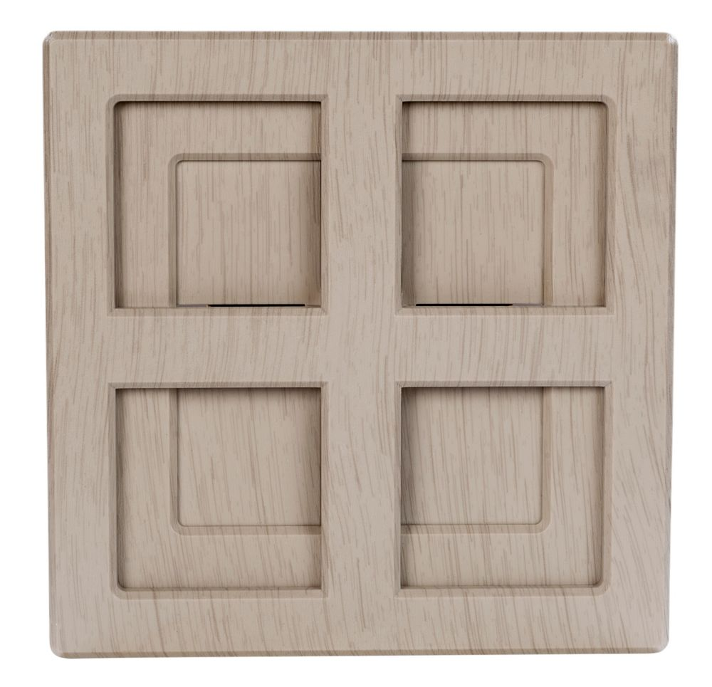 Hampton Bay Wireless or Wired Door Bell in Light Grey Wood