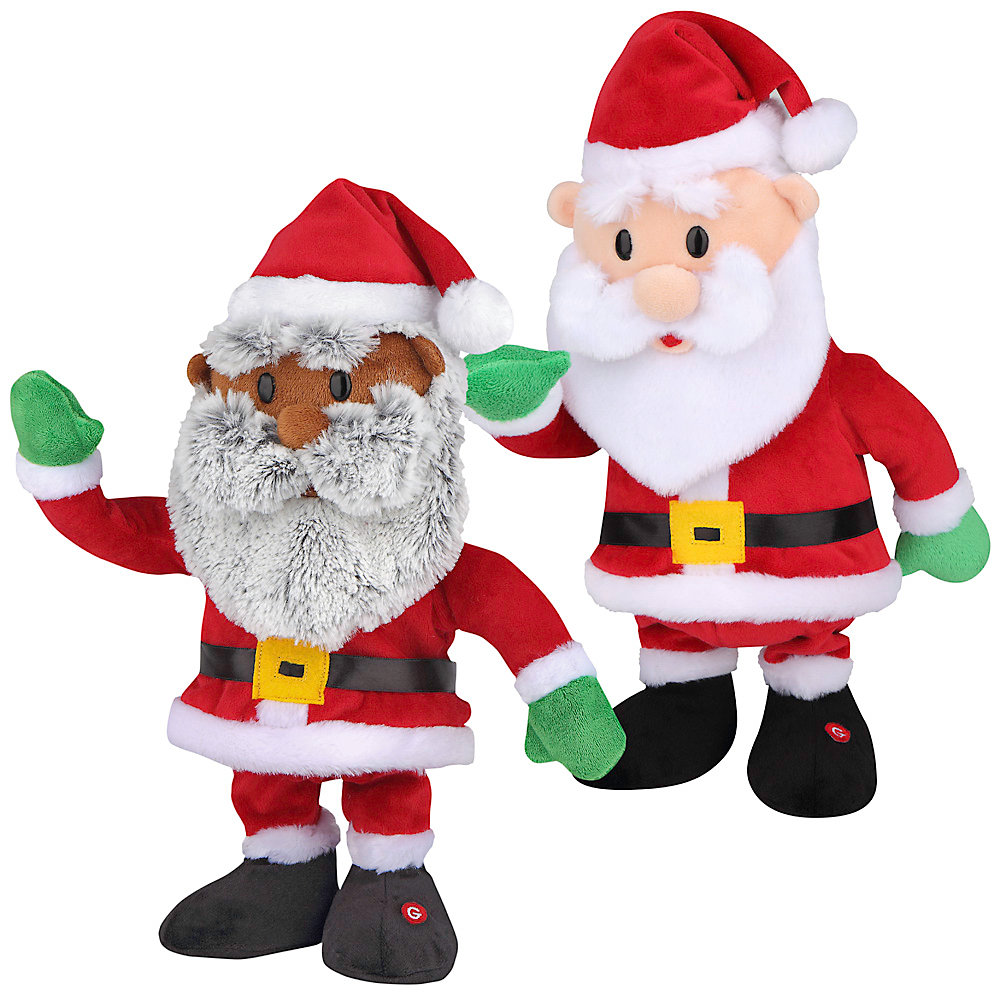 Animated Plush Rapping Santa (Assorted Styles)