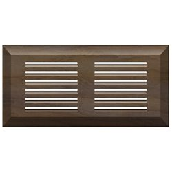 Finium Maple Dark Grey Top Mount Air Vent 4-inch X 10-inch