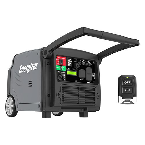 Energizer 3,200-W Inverter Generator with Remote Start and Parallel Capability, Gas Powered Portable
