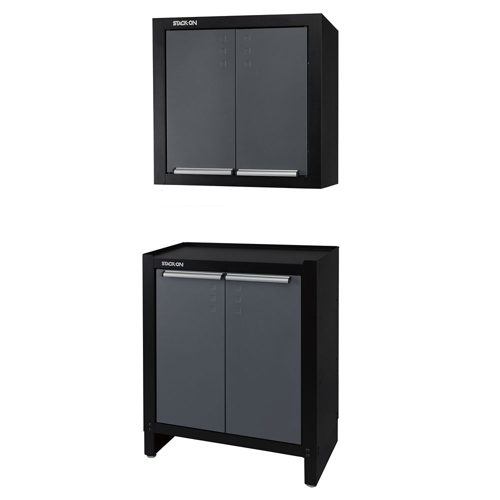 Stack On Modular 2 Door Project Center Wall Cabinet Combo The