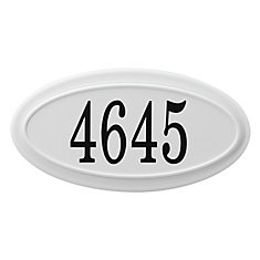 Oval Address Plaque, White