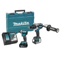MAKITA 18V (5.0 Ah) LXT 2 Tool Combo Kit, Brushless