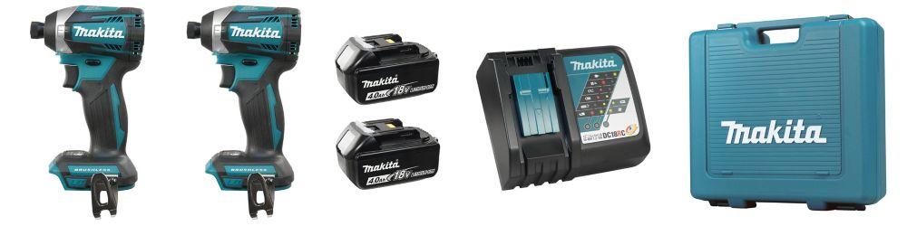 MAKITA 18V (4.0 Ah) LXT 2 Tool Combo Kit, Brushless