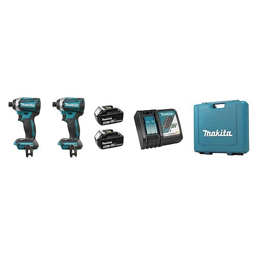 MAKITA 18V (4.0 Ah) LXT 2 Tool Combo Kit, Brushless