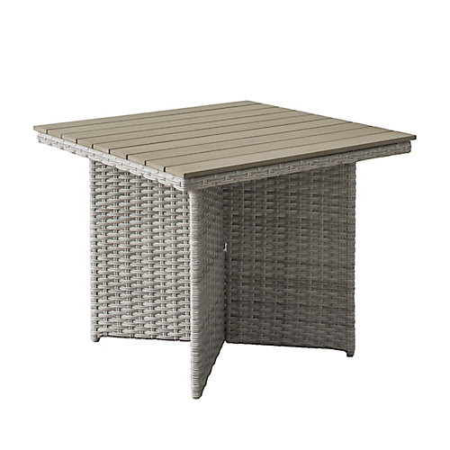 Brisbane Weather Resistant Resin Wicker Patio Dining Table