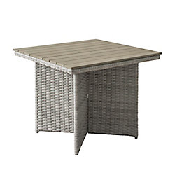Corliving Brisbane Weather Resistant Resin Wicker Patio Dining Table