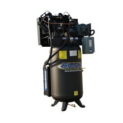 EMAX Industrial  5 HP 1- Phase 2-Stage 80 Gal. Vertical Stationary Electric Air Compressor