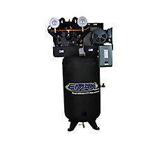 Industrial  7.5 HP 1-Phase 2 Stage 80 gal.Vertical Stationary Electric Air Compressor